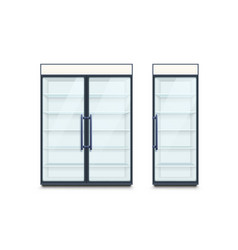 two commercial refrigerators vector image