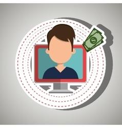 User e-commerce computer isolated icon design vector