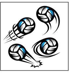 Volleyball swoosh set 4 vector