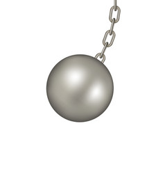 Wrecking ball in dark silver design vector