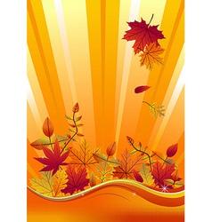 Autumn season background vector image