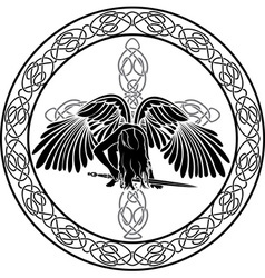 celtic angel vector image vector image
