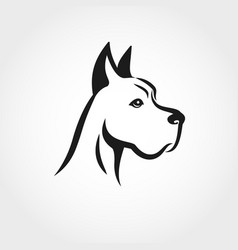 dog head line drawing can be used as logo vector image