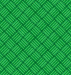 Green abstract geometric square seamless pattern vector image vector image