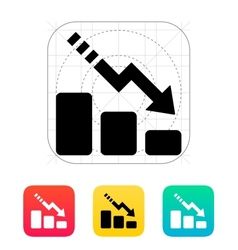 Line chart down icon vector image vector image