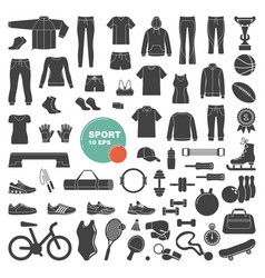 sports and fitness icons vector image