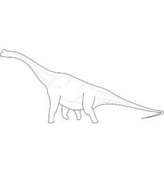 Diplodocus Dinosaur line-art vector image vector image