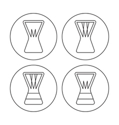 Djembe icons vector image vector image