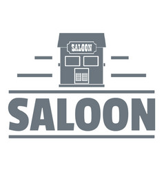 saloon logo vintage style vector image vector image