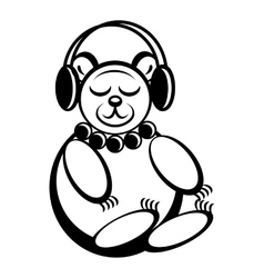 Bear toy simple icon vector image