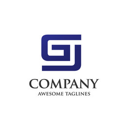 creative letter gj design logo vector image vector image
