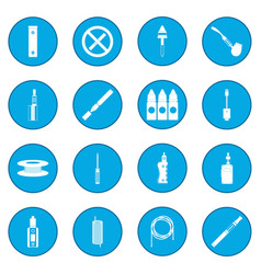 Electronic cigarettes icon blue vector