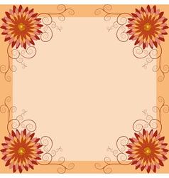 Floral vintage background invitation greeting card vector image vector image