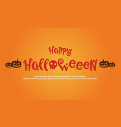 happy halloween greeting card style vector image vector image