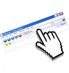internet communication vector image vector image