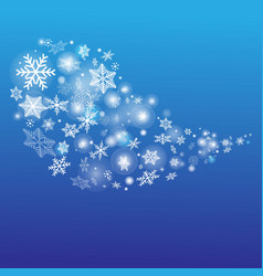 stok-vektor-bubble-snowflakes vector image