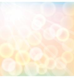 autumn sunshine vector image