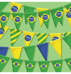 brazil bunting decoration vector image vector image