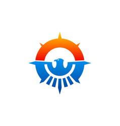 eagle abstract emblem icon logo vector image