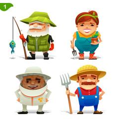 farm professions set-1 vector image
