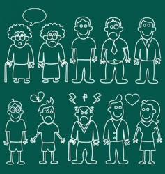 people characters vector image vector image