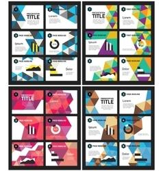 Presentation template abstract polygonal vector image