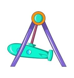 Rocket swing icon cartoon style vector image vector image