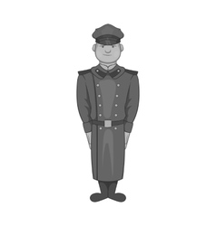 Soldiers in uniform icon black monochrome style vector image vector image