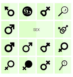 14 sex icons vector