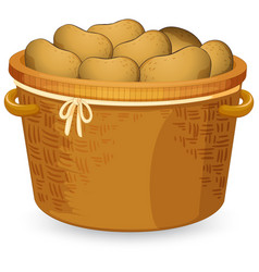 A basket of potato vector