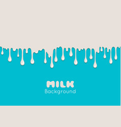 Background with flow milk vector