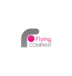 badge for flying company vector image