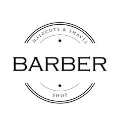 Barber vintage sign stamp vector