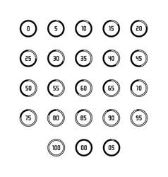 black and white loading buffering progress wheel vector image