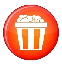 Box of popcorn icon flat style vector