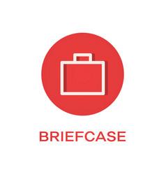 briefcase round flat icon portfolio symbol vector image