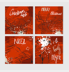 christmas gift tags and cards with calligraphy vector image