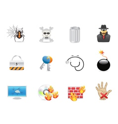 computer security icon vector image