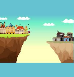 Conceptual gap between rich and poor vector