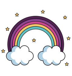 Cute rainbow design vector