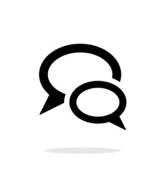 Dialogue bubble icon on white background vector image