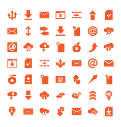 download icons vector image