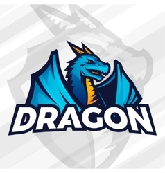 Dragon logo concept sport mascot design asian vector