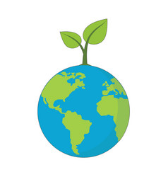 eco planet concept symbol vector image