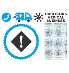 Error Icon with 1000 Medical Business Pictograms vector