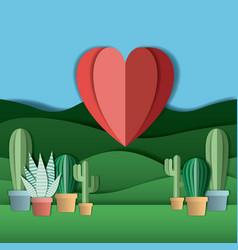 field landscape digital crafts vector image