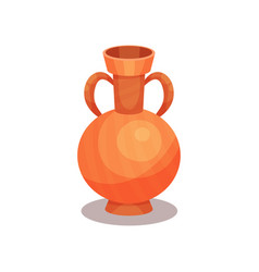 flat icon of ancient amphora with two vector image