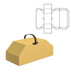 folding package template vector image