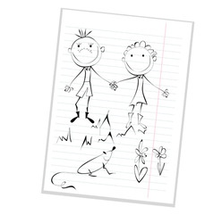 funny couple vector image