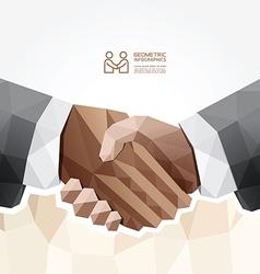 Geometric Modern handshake Design vector image